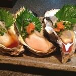健心流 旬 - 徳島産真牡蠣。 ポン酢で頂きました\(^o^)/