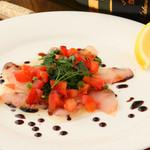 ロジエ - 白身魚のカルパッチョ♪ バルサミコソースが決め手★
