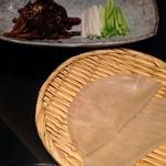21925680 - 13.10月 牛肉の北京甜面醤炒め 薄餅添え