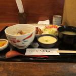 いっしん - 鶏もも網焼き膳(780円)