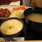 いっしん - 冷たい茶碗蒸し&わかめ味噌汁