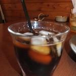 カフェまろん - ランチ ナポリタンセット 650円 アイスコーヒー 【 2013年10月 】