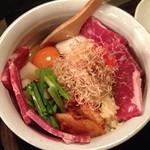 小麦っ娘 - 牛スタミナカルビ天(1,100円)