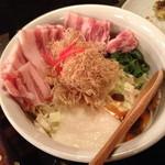 小麦っ娘 - オリジナル天(850円)+トッピング豚バラ(300円)