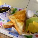 レモン - 料理写真:2013.10 思ったより豪華なモーニングににっこり♪