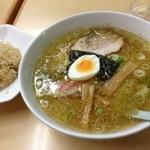 蔵王 - 塩ラーメンセット780円なりー
