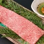 壱岐牛焼肉 みやま - ザブトンの焼きしゃぶ&トリュフたまご