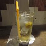 あくびカフェー - 自家製梅ソーダ
