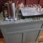 あくびカフェー - お水はセルフ