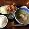 Ramenhacchaki - 料理写真:鯛塩ラーメン、唐揚げセット