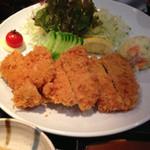 レストラン春日苑 - 甘とろ豚モモかつ定食 980円