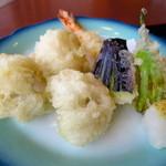 中の濱 - ハモとエビの天ぷら