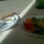 21946280 - セットの野菜サラダ&フォカッチャ