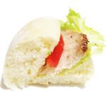 boulangerie ASH - スパイシーローストチキンとオニオンのパニーニサンドの断面 '13 5月下旬