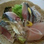 松輪 - 松輪サバ塩焼きに付くしめサバと炙りサバ