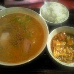 担々亭 - '09・08・27 四川風坦々麺と麻婆のセット