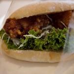 21950945 - チキン竜田の油淋鶏ソースサンド