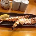 地鶏焼き処 とり酉 - 大きな海老2匹で500円♫