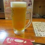 居酒屋 春秋 - 生ビール(中)