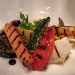 AKI NAGAO - 【2013年10月19日】 メイン魚料理の付け合わせ ※野菜のグリル