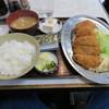三笠 - 料理写真:日替わり定食、チキンカツとコロッケ(750円)