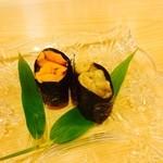 小判寿司 - ウニの食べくらべ
