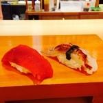 小判寿司 - イカ下足とマグロの赤身