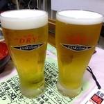 魚庭本店 - エクストラコールド♪ -2度の生ビール:390円