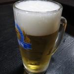 京城ホルモン店 - 生ビール(中) 470円