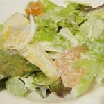 ワインハウス サノヤ - パスタランチ<\1,050>(フルーツサラダのアップ、2013年9月)