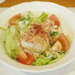 ワインハウス サノヤ - 料理写真:パスタランチ<\1,050>(豆腐サラダ、2013年9月)