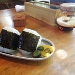 竹林亭 - おむすび(セットで300円、単品で320円)