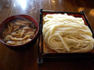 田舎うどん 吾作 - きのこ汁うどん(500円)_2009-09-05