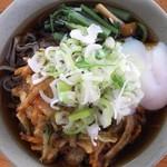 信州生そば - かき揚げ+山菜+玉