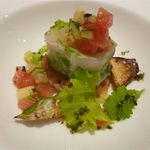 21971158 - スズキにオマールを包み白菜で巻いた魚料理
