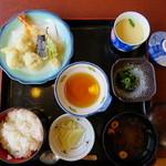 中の濱 - ハモとエビの天ぷら定食