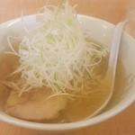 喜多の味らーめん - ねぎ塩ラーメン。麺は自家製