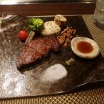 朱藏 - 鹿児島桜牛のステーキ
