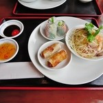 フォー ベト レストラン - Aランチコース(生春巻き、揚げ春巻き、青パパイヤサラダ+好きなフォー選択)