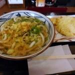 21981971 - かけうどん、天ぷら(ちくわ・豚肉)