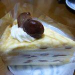シャトレーゼ - 2013.10 栗のミルクレープ