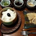 21983511 - わらび餅とソフトクリームのセット♪