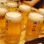 ダイニング段林海 - 飲み放題のビール