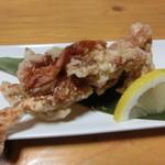 居酒屋雄 - 脱皮蟹の唐揚げ・・・甲羅が柔らかくて食べやすい(´∀`)