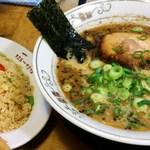黒龍紅 - ラーメン600円+半炒飯250円
