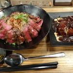 佰食屋 - 肉バブル(ステーキ+ハンバーグ)1400円