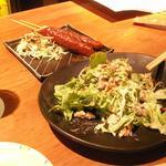 舌呑ebisu - 味噌カツと謎のサラダ
