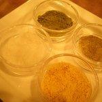 天ぷら新宿つな八 - 4種のお塩