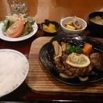 22000219 - 牛ヘレ肉ステーキ鉄板焼膳(\2,100)