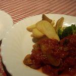 レストラン いけじゅう - ディナーコース チキントマトソース